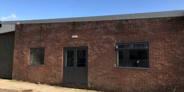 The outside of our new Jewellery workshop