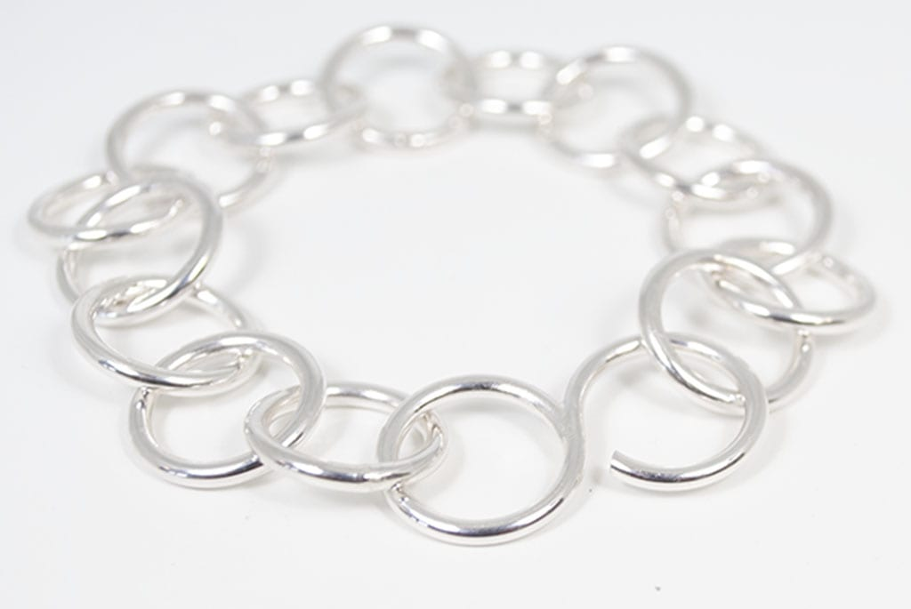 silver chain bracelet with s-clasp